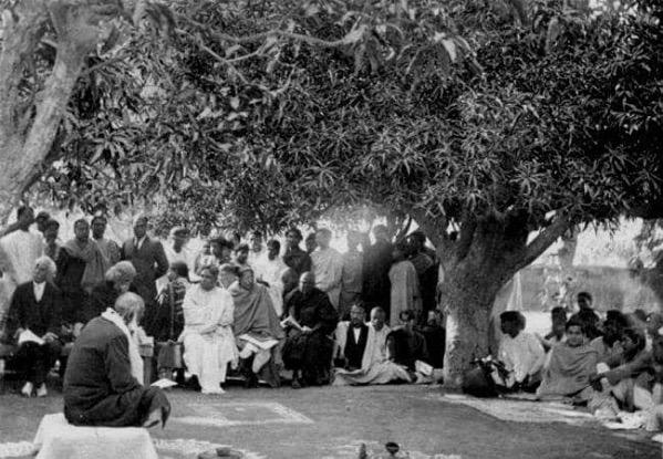 Rabindranath Tagore at Santiniketan